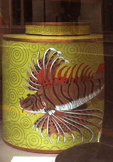 Cloisonné YELLOW TROPICAL FISH