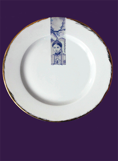 "Assiette en porcelaine de la collection ""Supa"""